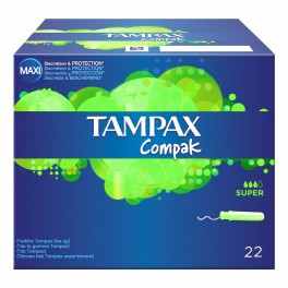 Tampax® avec applicateur en carton Super.