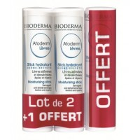 BIODERMA Atoderm Lèvres Stick Hydratant Lot 3x Sticks 4 g