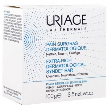 uriage pain surgras dermatologique 100 g cfmapharmacie parapharmacie en ligne. Black Bedroom Furniture Sets. Home Design Ideas