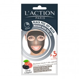 L'ACTION PARIS Masque Noir Peel off 3 Sachets