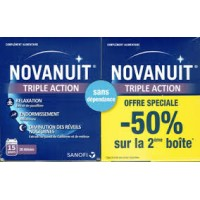 NOVANUIT TRIPLE ACTION Lot de 2 boites de 30 Gélules